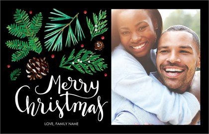 Typographical Holiday Cards Templates Designs Vistaprint