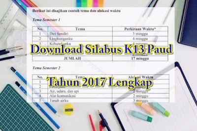 Download Silabus K13 Paud Tahun 2017 Lengkap Pendidikan Anak Usia Dini Pendidikan Kurikulum