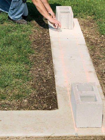 Basic Steps In Laying Of Concrete Block Concrete Blocks Brick Steps Concrete Block Walls