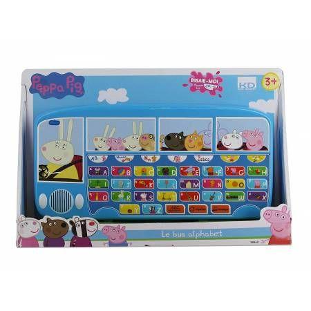 jouet peppa pig kd bus abecedaire