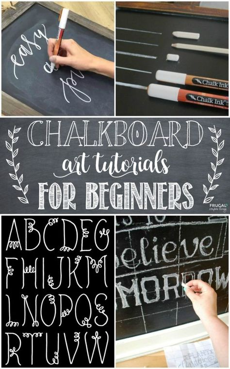 Chalkboard Art Tutorials and Hand Lettering Tutorials for beginners and those who desire the skill of script. Calligraphy and Chalkboard Lettering. Details on Frugal Coupon Living. art tutorial Chalkboard Art and Hand Lettering Tutorials Chalkboard Doodles, Blackboard Art, Chalkboard Writing, Chalkboard Fonts, Chalkboard Designs, Chalkboard Ideas, Chalk Writing, Chalkboard Lettering Alphabet, Chalkboard Drawings