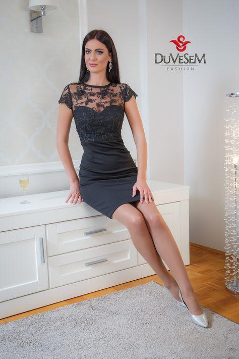 Vanvremenska Elegancija Duvesem Fashion Crnahaljinica