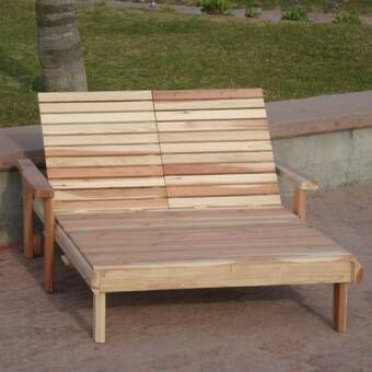 Ybanez Double Reclining Teak Chaise Lounge Pallet Furniture Outdoor Teak Chaise Lounge Double Chaise Lounge