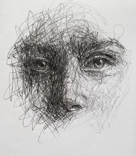 Self-Taught Artist Makes Amazing Female Portraits Based On Doodles Cool Art Drawings, Pencil Art Drawings, Art Drawings Sketches, Sketch Art, Illustration Art Drawing, Illustrations, Biro Art, Gcse Art Sketchbook, Scribble Art