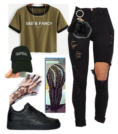 """Summer Sixteen~Drake"" by kitty900 ❤ liked on Polyvore featuring WithChic, NIKE and ZoÃ« Chicco"