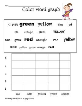 Enjoy this freebie printable!!  It is a graphing activity for students to practice reading their color words and an independent graphing activity a...