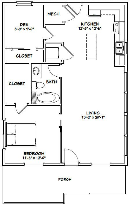 Admirable 26X34 House 26X34H1A 884 Sq Ft Excellent Floor Download Free Architecture Designs Scobabritishbridgeorg