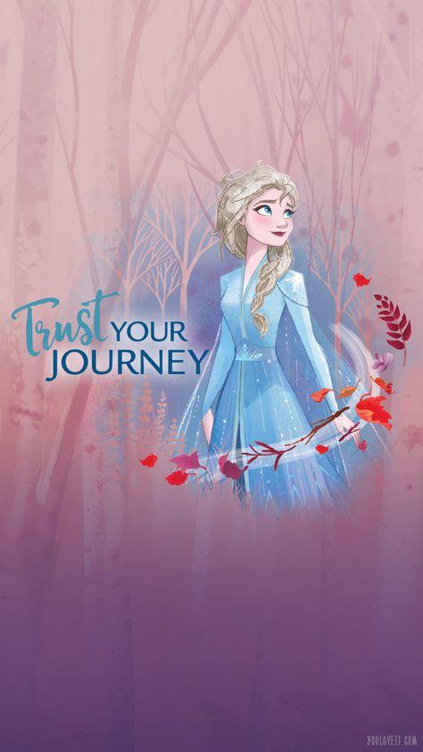 Big Frozen 2 phone wallpapers with Elsa