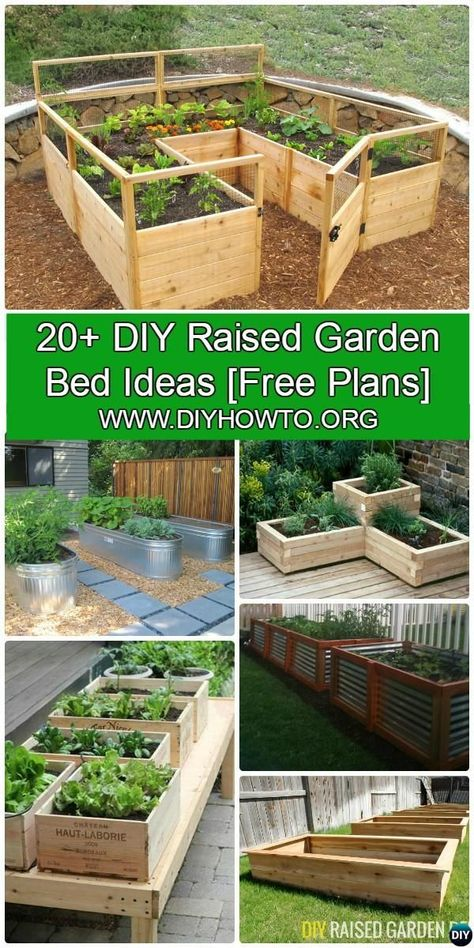 More than 20 DIY Raised Garden Bed Ideas Instructions [Free Plans] from Cinder block garden bed to wood garden bed and garden tower! Creative Raised Garden Projects To Try For Your Home Tower Garden, Garden Boxes, Cinder Block Garden, Cinder Blocks, Diy Garden Bed, Pallett Garden, Diy Herb Garden, Building A Raised Garden, Raised Garden Bed Plans