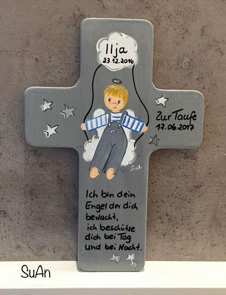 Weiteres Schutzengelkreuz Geschenk Zur Taufe Ein