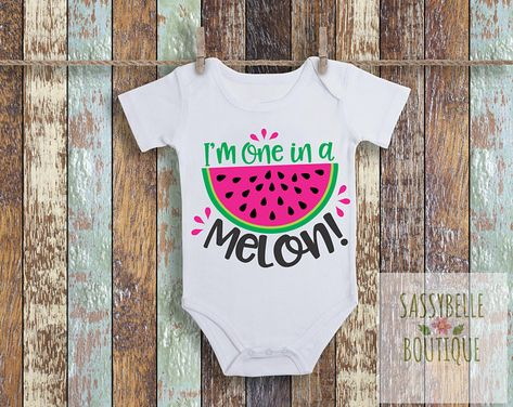 6e3ec7f43 Funny Baby Onesies for your adorable little by SassyBelleTreasures, Funny  Onesie, One In A Melon Watermelon Onesie, Funny Onesie, Joke Onesie, ...