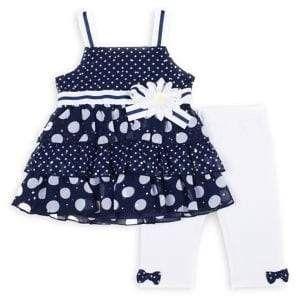 fox design polka dot dress set