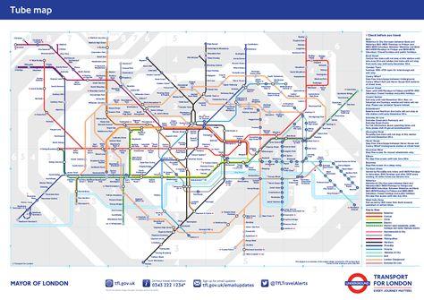 Mapa Estandard Del Metro De Londres 2014 Metro Londres Mapa