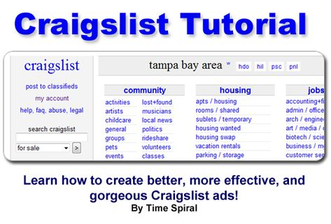How To Write An Effective Craigslist Ad With Images Create Ads Ads Craigslist