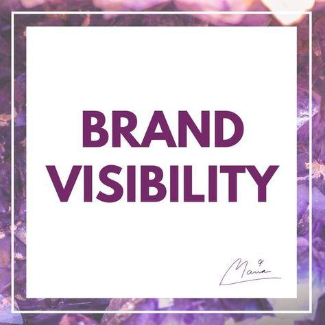 Brand Visibility ,  #Brand #businessmarketingideasbranding #Visibility