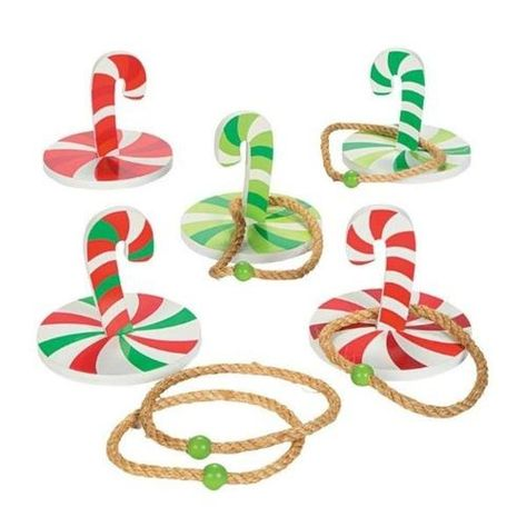 Candy Cane Ring Toss Game Set