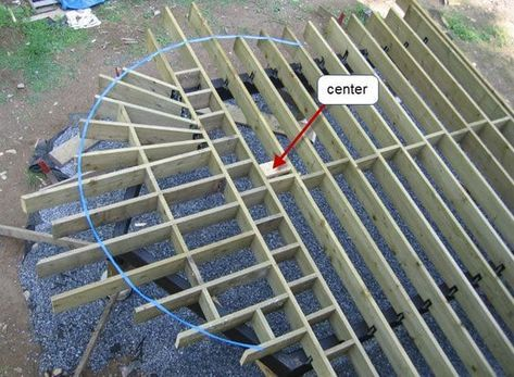 How To Build A Curved Deck Building A Deck Diy Deck Curved Deck