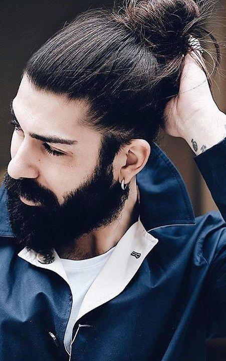 Full Man Bun Man Bun Hairstyles Man Bun Easy Mens Hairstyles