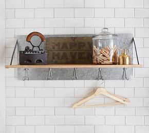 Galvanized Laundry Drying Rack Galvanized Shelves Shelves Wall