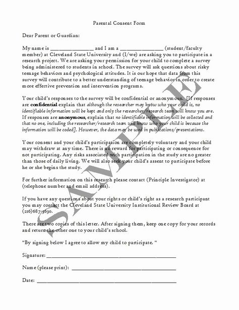 Parental Consent Forms Template Awesome 50 Printable Parental