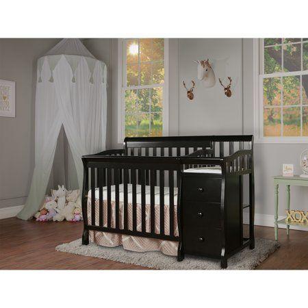 Dream On Me Jayden 4 In 1 Convertible Mini Crib And Changer Espresso Walmart Com Mini Crib Convertible Toddler Bed Convertible Crib