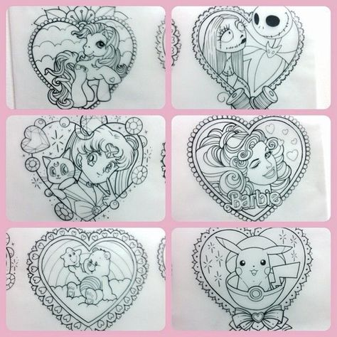 """#90s #couple #flat #I39d #Love #nostalgia #o39 #pieces #rate #tattoo - """"Couple o' 90s nostalgia pieces I'd love to tattoo flat rate $300 each. A little over palm size. I'll only be tattooing each design once. Get in…"""""""