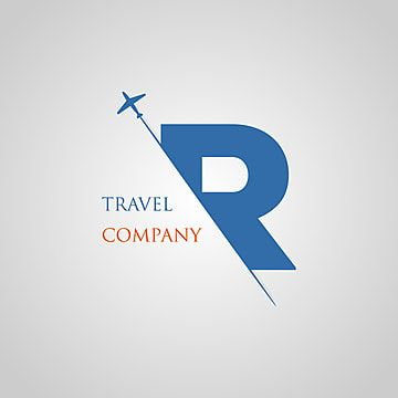 يتم إدخال الحرف الكبير R في الفتحة الورقية مع حرف شريحة الطائرة R لشعار السفر لإنشاء شعارات شعارات الشعارات Travel Logo N Letter Design P Logo Design