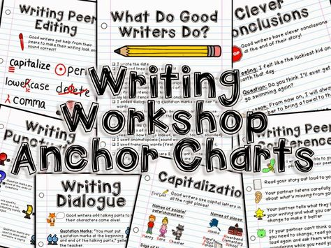 easy peasy writing workshop anchor charts