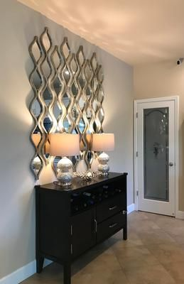 Single Silver Teardrop Panel Mirror 6 25x58 75 Dining Room Wall