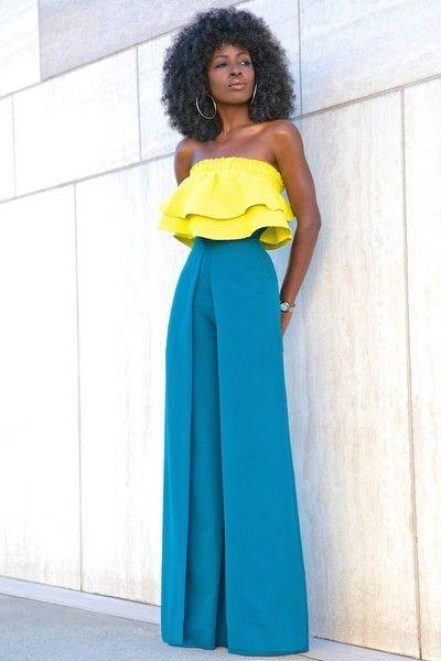 Pants That Color Block - How to Style Wide Leg Pants - Photos