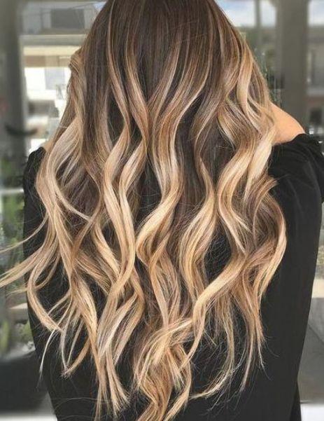 Caramel Bronde Balayage For Dark Hair Brown Hair With Highlights Brown Hair With Blonde Highlights Brown To Blonde Balayage