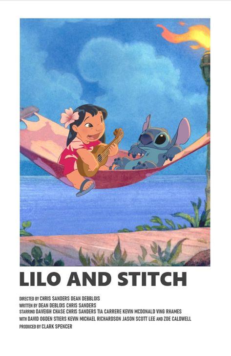 Lilo and Stitch minimal A6 movie poster