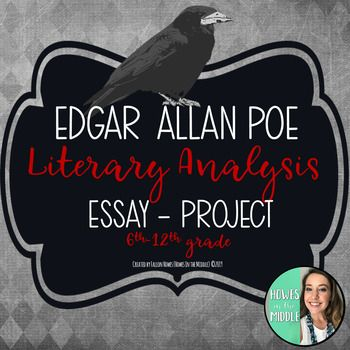 Student Will Read And Analyze Both Annabel Lee A Dream Within By Edgar Allan P Middle School Writing Literary Analysi Essay Analysis