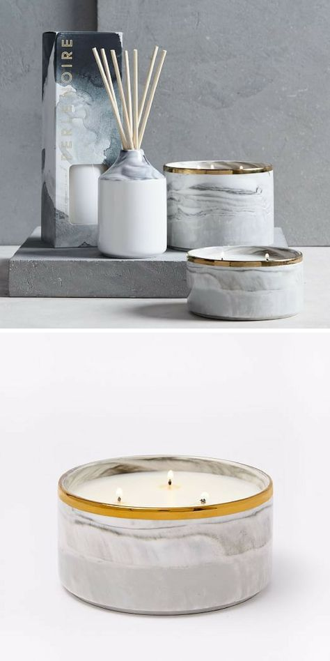 gold This Marble and Gold candle...