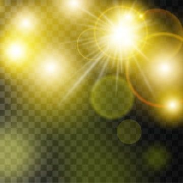 Yellow Sunlight Lens Flare Effects On Black Transparent Spotlight Clipart Light Vector Png And Vector With Transparent Background For Free Download Lens Flare Effect Lens Flare Light Effect Photoshop