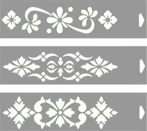 Floral Scroll Damask Swirls Reusable A5 Stencil 15x21 cm Craft Decoupage Scra...