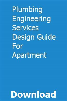 Plumbing Engineering Services Design Guide For Apartment Service Design Design Guide Design