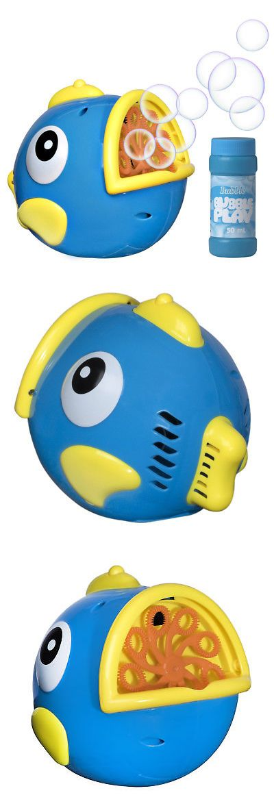 Bubble Play Bubble Fish Powerful Battery Operated Bubble Blowing Machine for