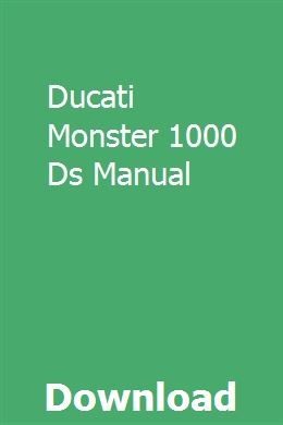 Ducati Monster 1000 Ds Manual Stihl Chainsaw Interview Guide Ducati Monster 1000