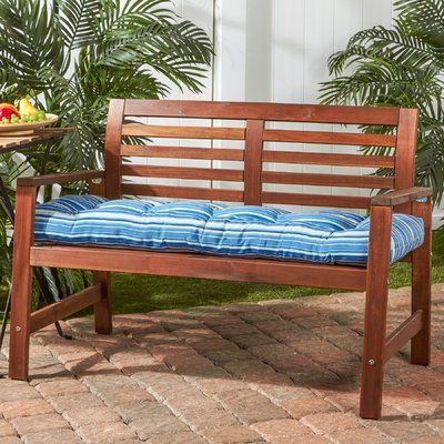 Highland Dunes Indoor Outdoor Bench Cushion Fabric Porch Swing Outdoor Porch Patio Seat Cushions