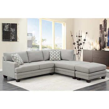 Mitch Fabric Sectional With Ottoman Sectional Sofa Fabric Sectional Sofas Sectional Sofas Living Room