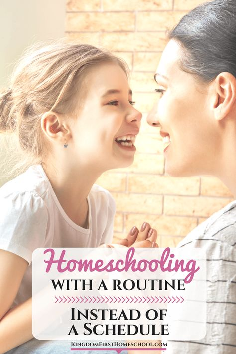 Homeschooling with a Routine Instead of a Schedule - Here's How!