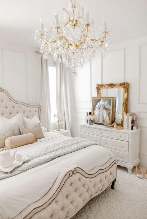 Room Inspiration Bedroom, Fancy Bedroom, Home Bedroom, Bedroom Interior, Bedroom Makeover, Bedroom Design, Luxurious Bedrooms, Bedroom Decor, Parisian Room