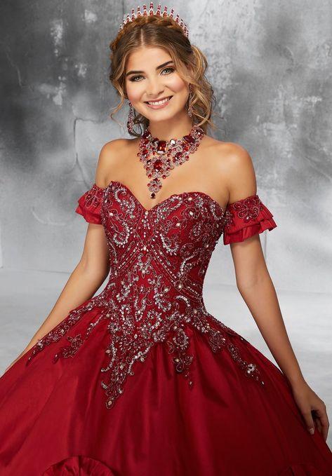 aefd1d5625 Bead Lace Appliqued Quinceanera Dress by Mori Lee Vizcaya 89195-Mori Lee  Vizcaya-ABC Fashion
