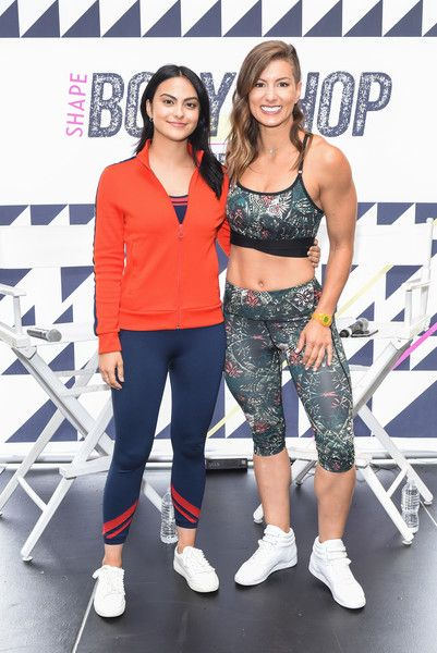Camila Mendes and Jennifer Widerstrom attend SHAPE's 3rd Annual SHAPE Body Shop Pop-Up at Hudson Loft.