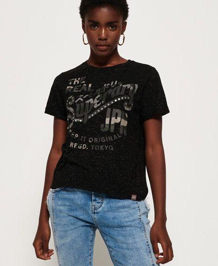 Superdry Keep It Rhinestone Boxy T Shirt Fashion Mens Tops Shirts