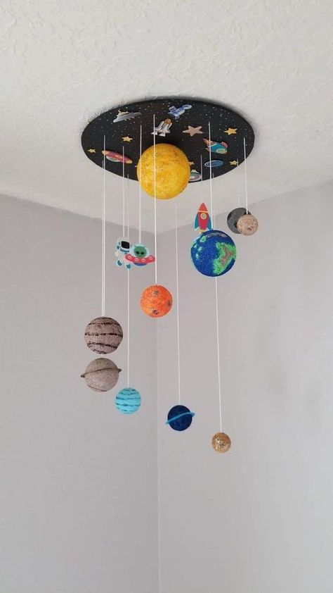 Decor Guide: Kids Room Ideas That Are Nothing but Stylish . - DIY Ideen - Decor Guide: Kids Room Ideas That Are Nothing but Stylish - Kids Crafts, Diy And Crafts, Arts And Crafts, Space Crafts For Kids, Creative Crafts, Outer Space Crafts, Creative Kids Rooms, Creative Decor, Toddler Crafts