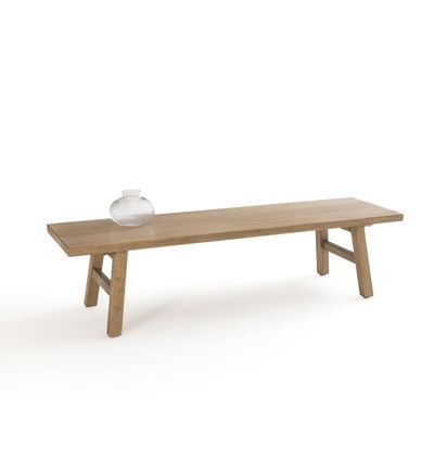 La Redoute Interieurs Table Basse En Orme Massif Asayo In 2020 Dining Bench Table Decor