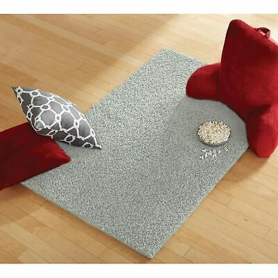Solid Silver Gray Shag Carpet Area Rug Indoor Mat Stain Resistant 3 X 5 Ft 5 X 8 Carpets Area Rugs Shag Carpet Shag Area Rug