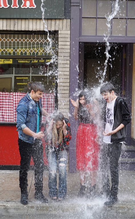 All wet from Behind the Scenes of Girl Meets World's Homage to Boy Meets World